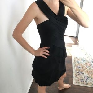BcbgMaxazria - black layered dress